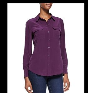 Equipment silk slim signature blouse